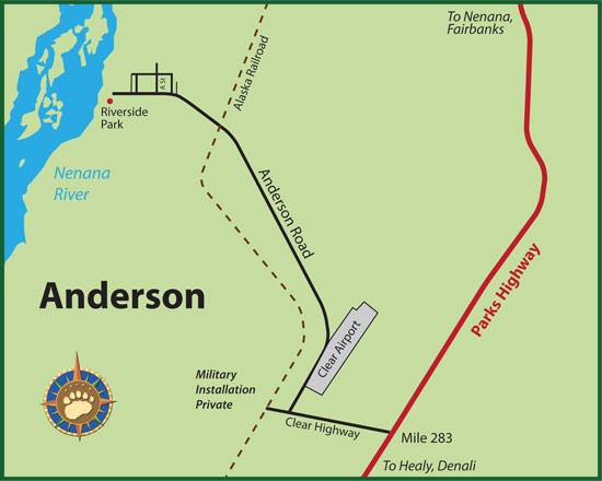Maps of Alaska Roads By Bearfoot Guides Map Of Anderson Alaska On