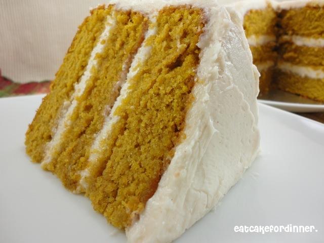 Eat Cake For Dinner Paula Deen S Pumpkin Cake With Cinnamon Buttercream