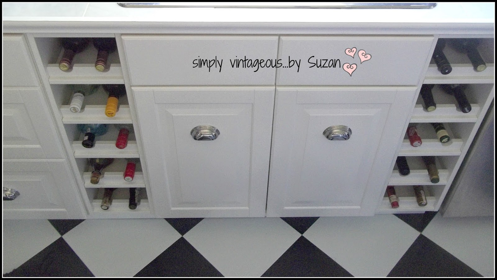 Wine cabinets in kitchen cupboards