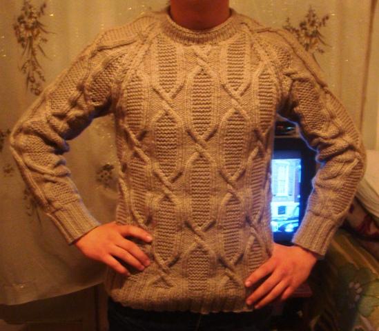 Вязать свитер видео урок
