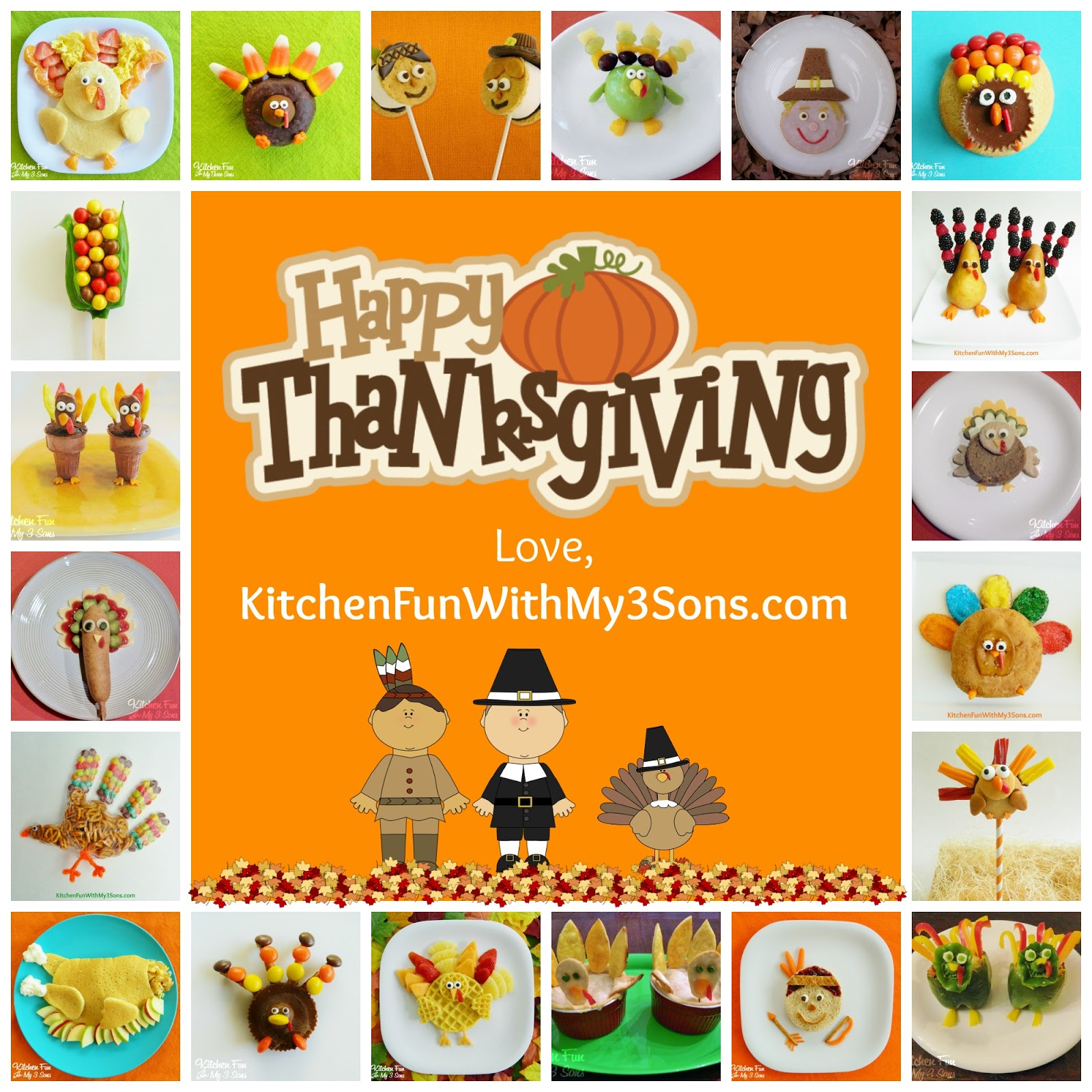 Fun Food Ideas for Kids for Thanksgiving