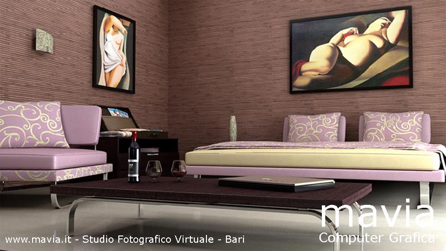 ... modelli 3d di letti matrimoniali e camere da letto moderne in ambienti