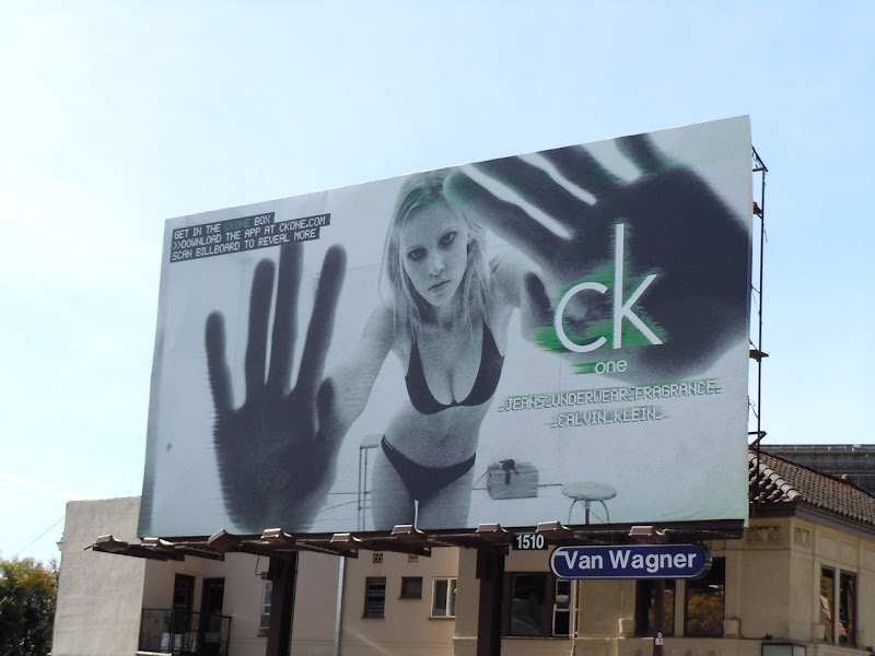 CK One female model billboard