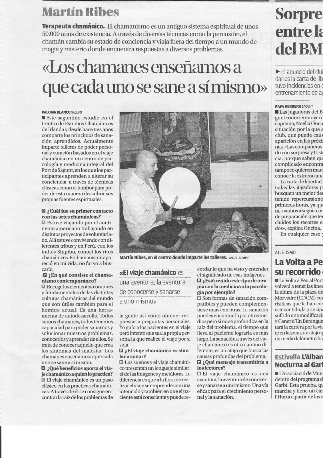 """ENTREVISTA DIARIO """"EL LEVANTE"""""""