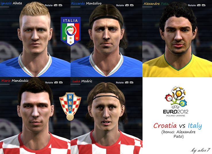 PES 2012 EURO 2012 Facepack by alex7