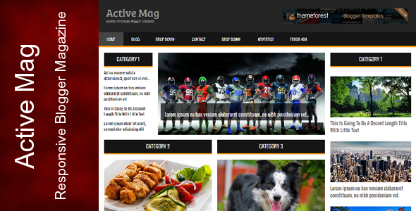 Active Mag – Responsive Blogger Template