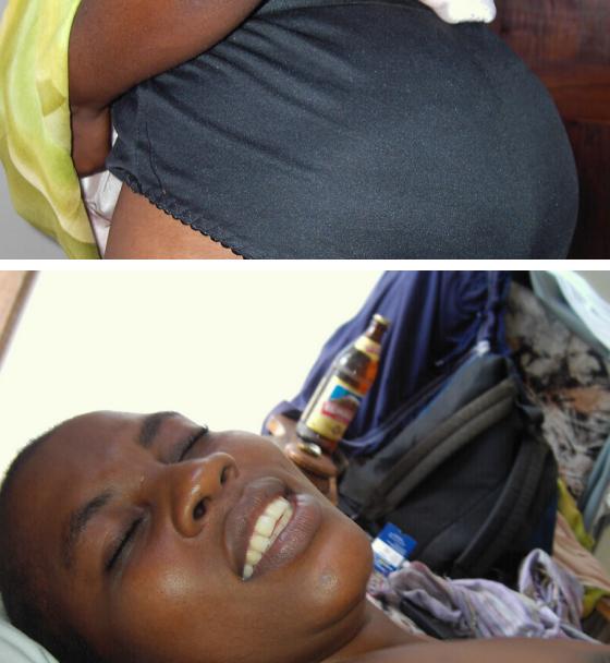 Aibu: Angalia Picha za Utupu za Mke wa mtu Alipoliwa Uroda mara baada
