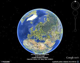 Ziemia widoczna w googleaearth