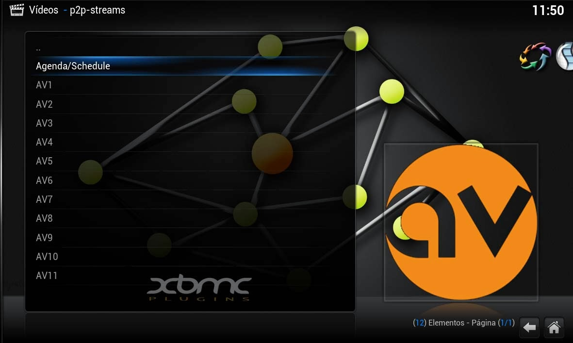 P2P-STREAMS XBMC version 1.0.7