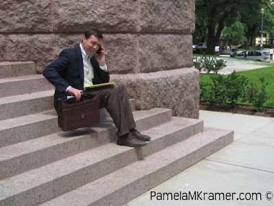 Photo Shoot with Houston Family Attorney Jim Evans by @PamelaMKramer