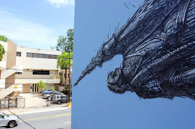 Street Art By Chinese Artist DALeast For Los Muros Hablan '13 In Puerto Rico. 6