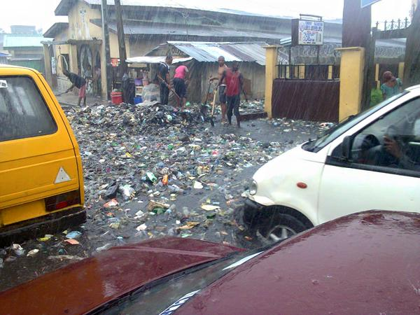 Disgusting Photos Of Kojo Street In Ajegunle, Lagos After The Rain