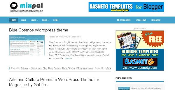 Mixpal blogger template free template mixpal blogger template maxwellsz
