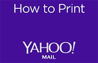 como imprimir en yahoo mail