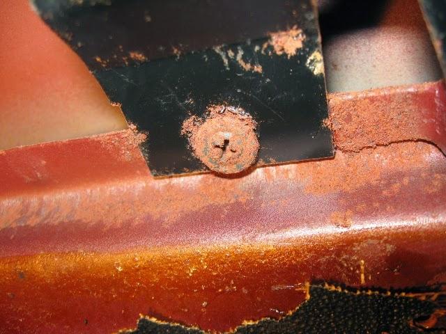 Fastback interior rusty hardware