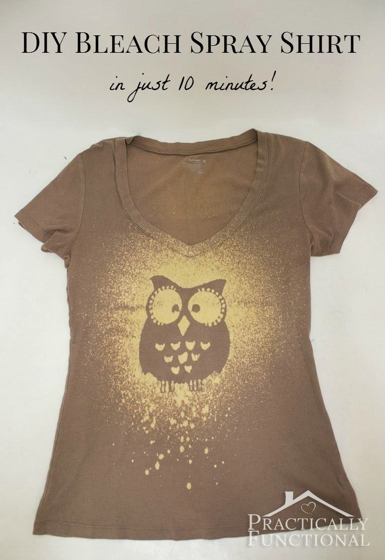 30 owl project ideas a glimpse inside for How to bleach at shirt