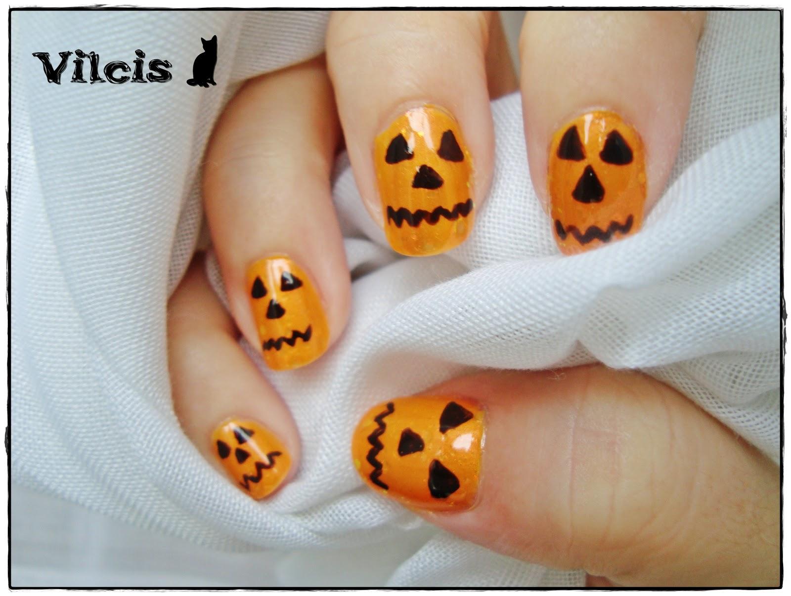 Vilcis nail designs dise o de halloween calabazas - Disenos de calabazas de halloween ...