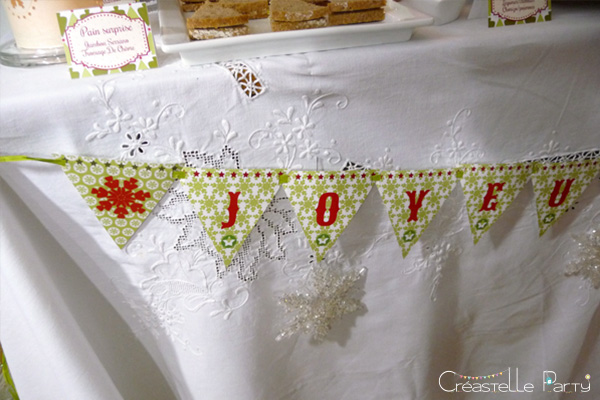 Sweet table Noël vert bannière / Evergreen Christmas banner
