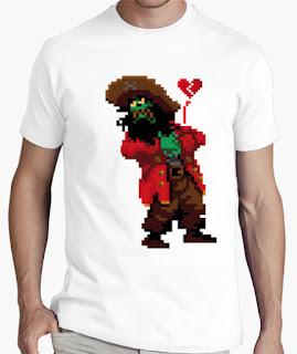 Camisetas Monkey Island Lechuck enamorado