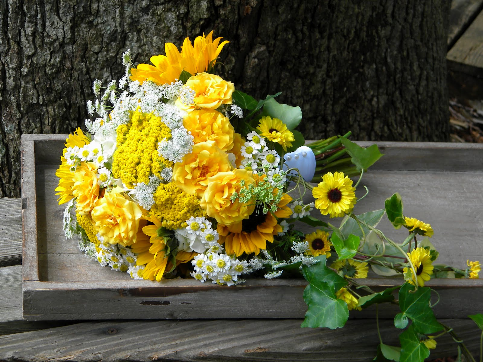 Wedding Flowers From Springwell Sunflowers For Katie And Davids