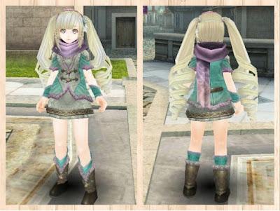 緑竜の衣 水色1+桃2+白3