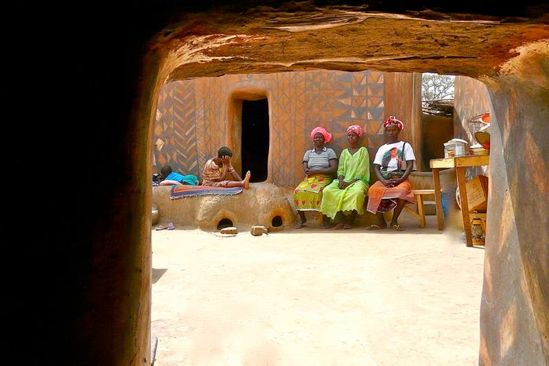 Tiébélé Painted House | Traditional Mud Houses of Burkina Faso