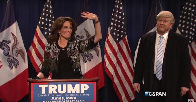 The Ever-Hilarious Tina Frey Returned to SNL As Sarah Palin To Mock Palin's Trump Endorsment!