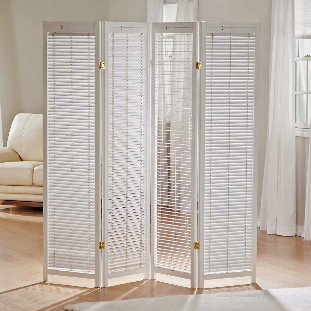 Accordion Room Dividers White Panels
