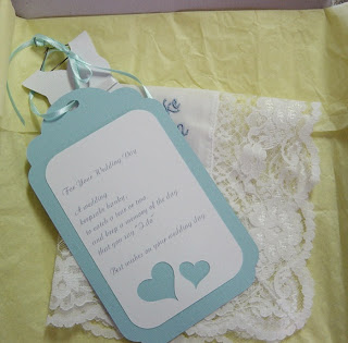hankie and tag in gift box