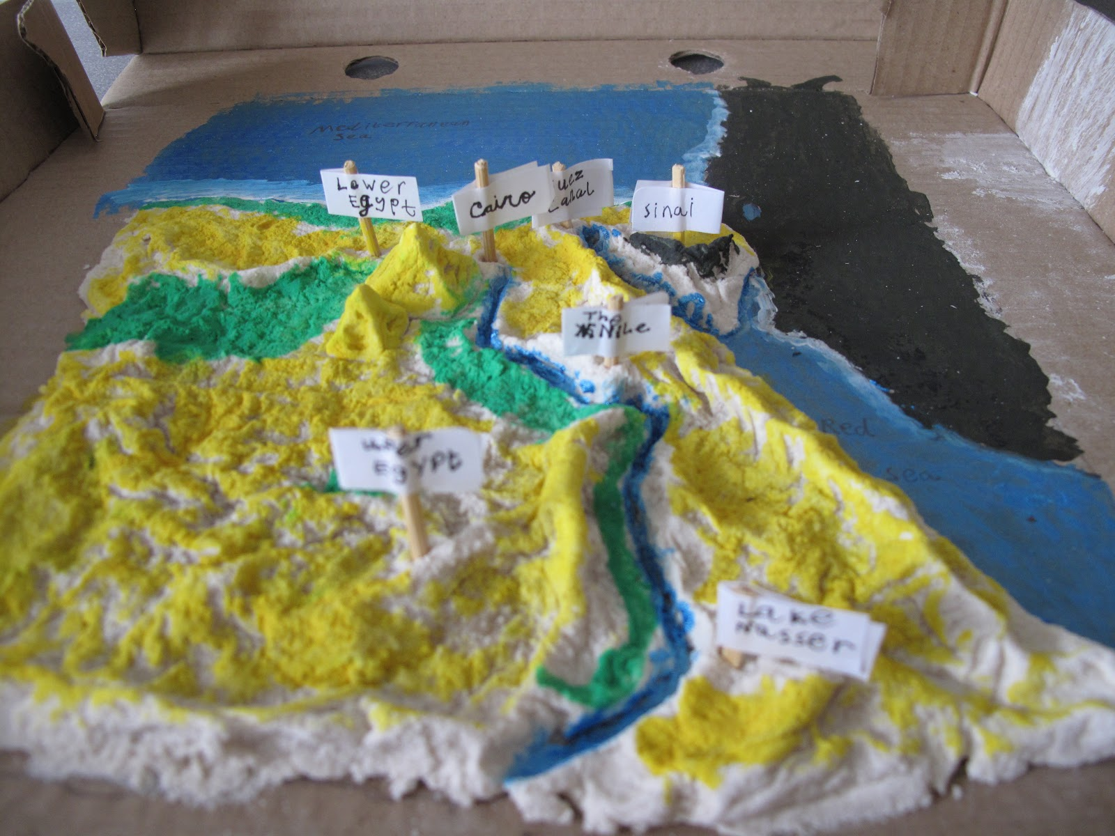 As You Walk By The Way...: Salt Dough Map of Egypt