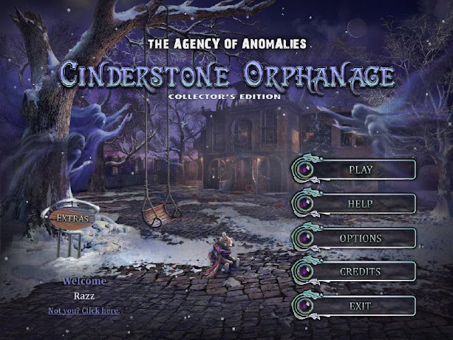 The Agency of Anomalies: Cinderstone Orphanage Collector's Edition Main Menu