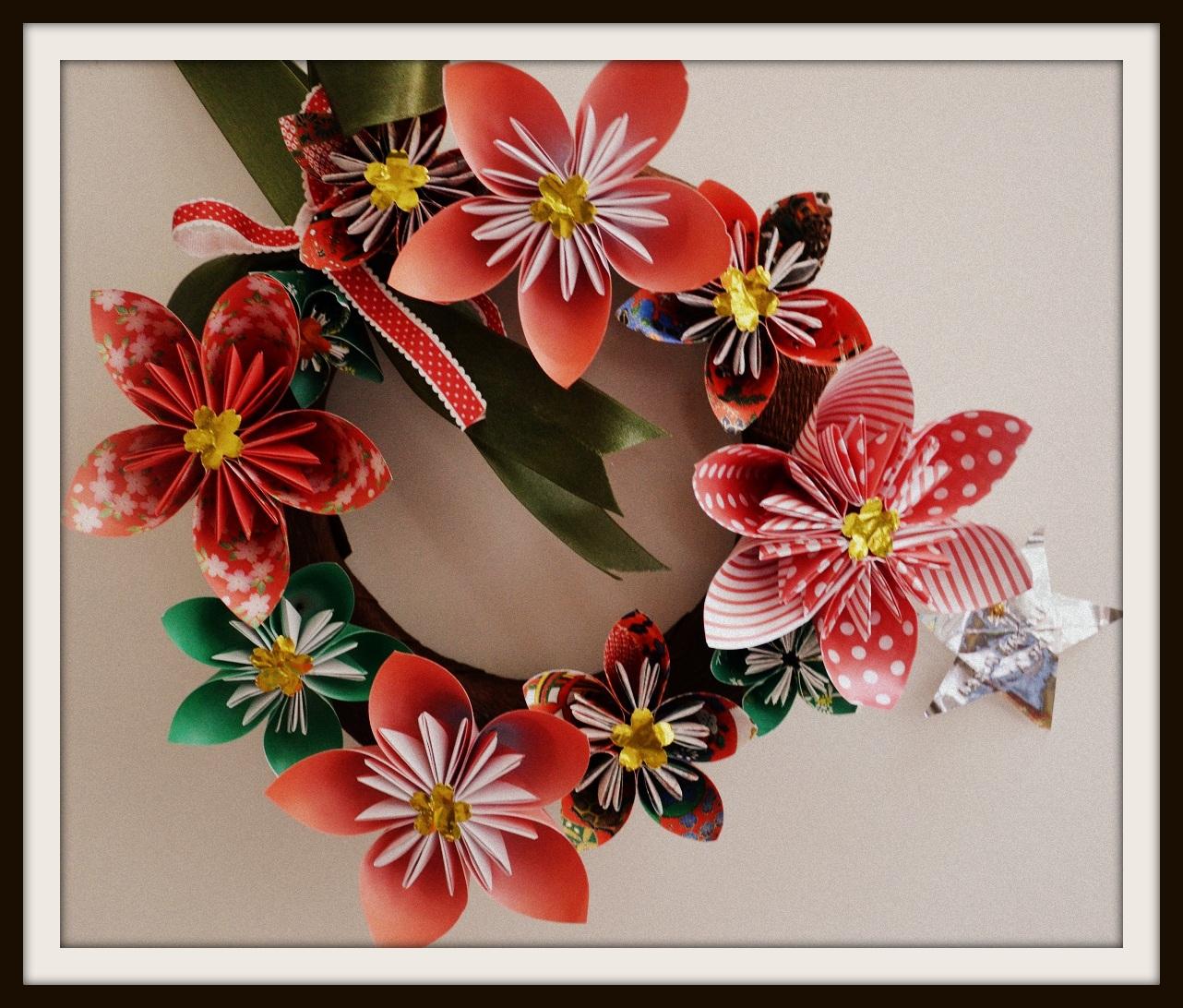 Diaper Mum Kusudama Flowers Wreath And A New Craft Love