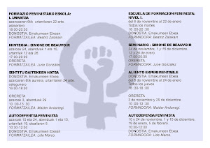 ACTIVIDADES ESCUELA FEMINISTA 2012-13