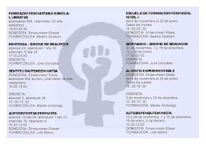 ACTIVIDADES ESCUELA FEMINISTA 2012-13
