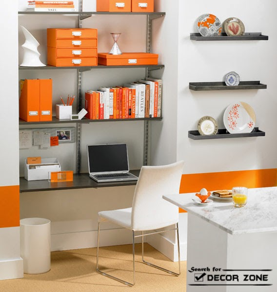 modern office wall decor storage and decorative shelves
