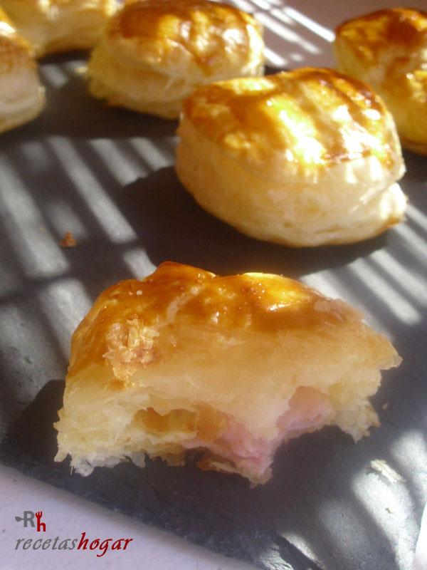 Cómo hacer el hojaldre relleno de queso y jamón