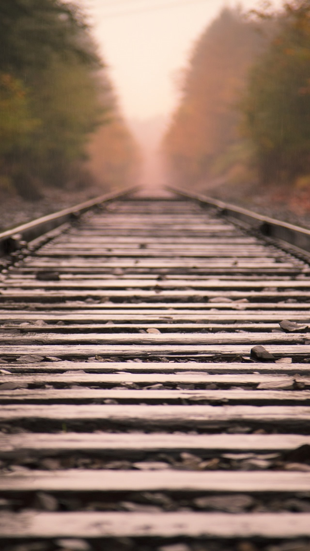 Railroad Tracks iPhone 5 HD Wallpaper Download