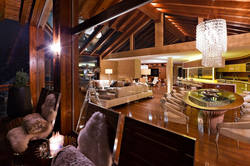 ... Star Luxury Mountain Home With An Amazing Interiors In Swiss Alps