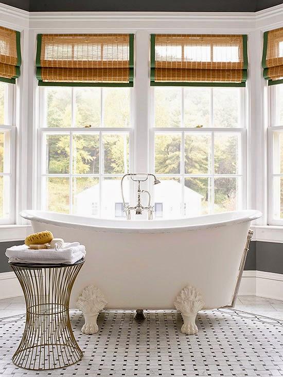 apró gyönyörűségek: Fürdőszoba ablakok