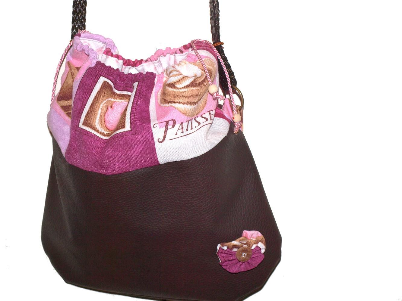 bolso chocolat rosa marron