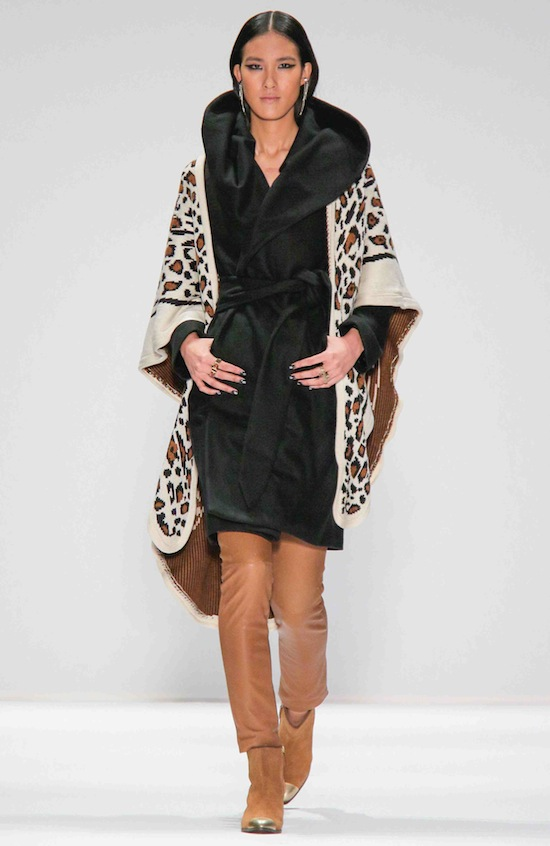 Mara Hoffman Runway Fall 2013 Animal Print Sweater