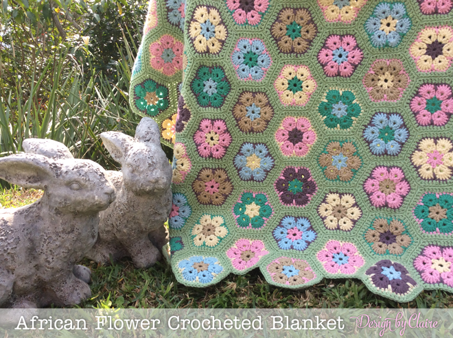Design By Claire African Flower Blanket