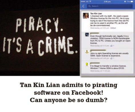 Tan Kin Lian software piracy epicfail