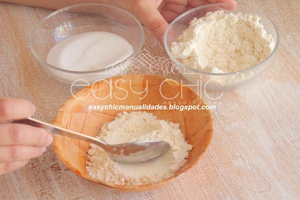 Como hacer pasta de sal para modelado. Arcilla o plastilina casera.