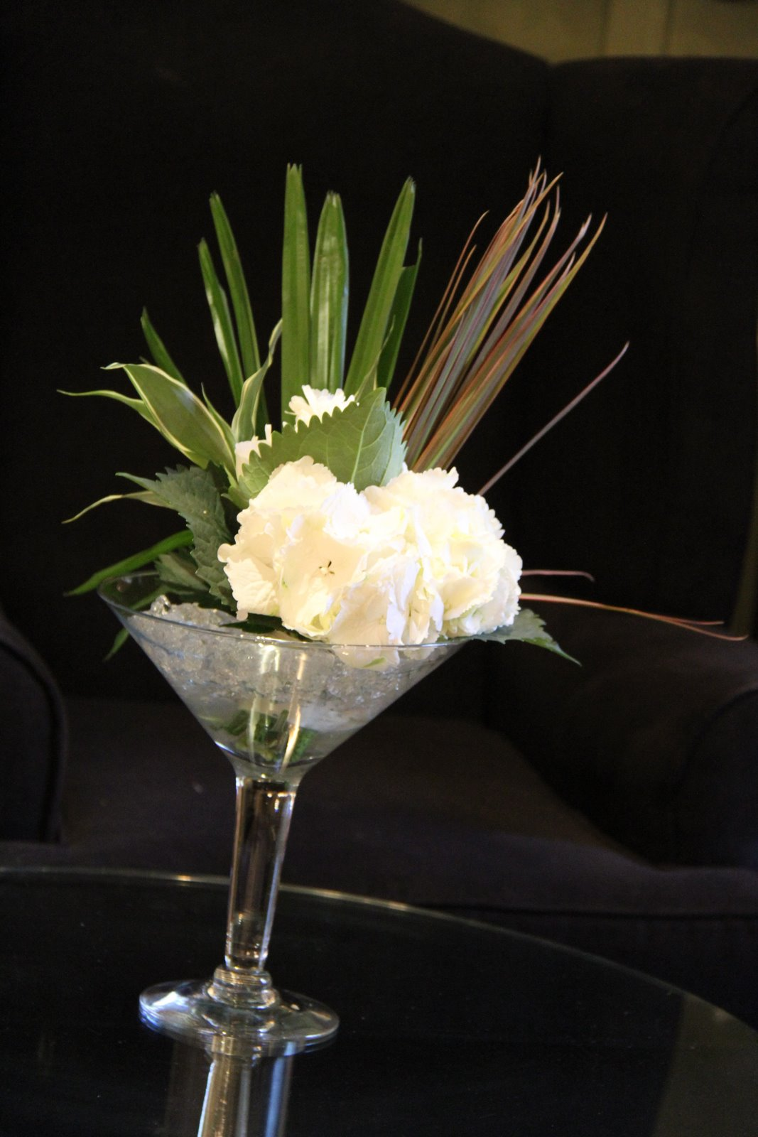 Flower Design Table Centrepieces Mini Martini Glass Vases