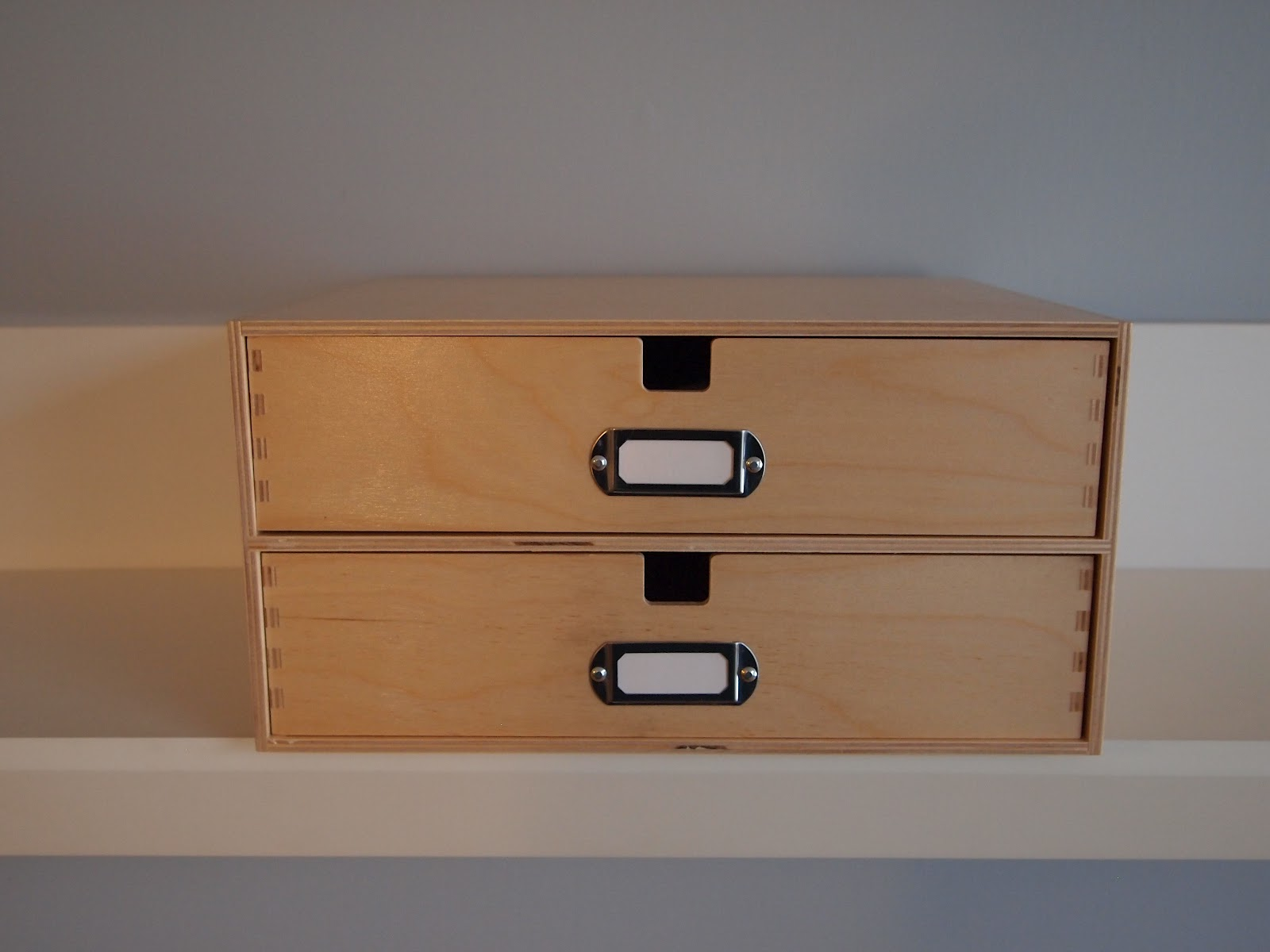 Craft room confidential wooden box with drawers
