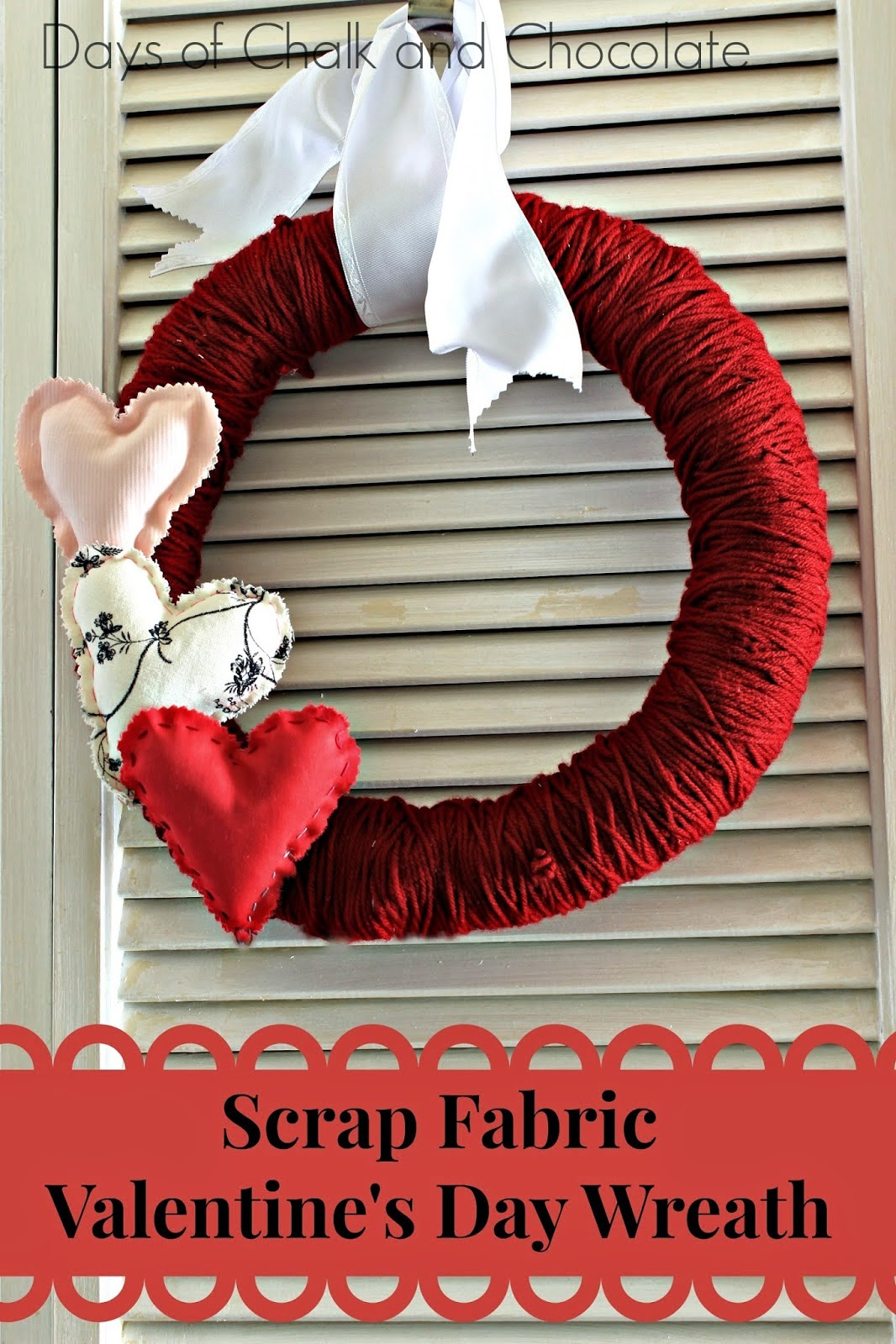 hearts red wreath holiday