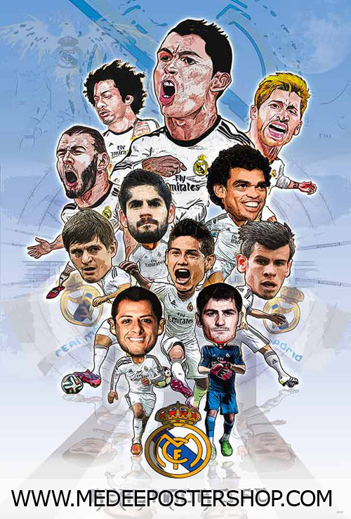 Real Madrid Cartoon 2016