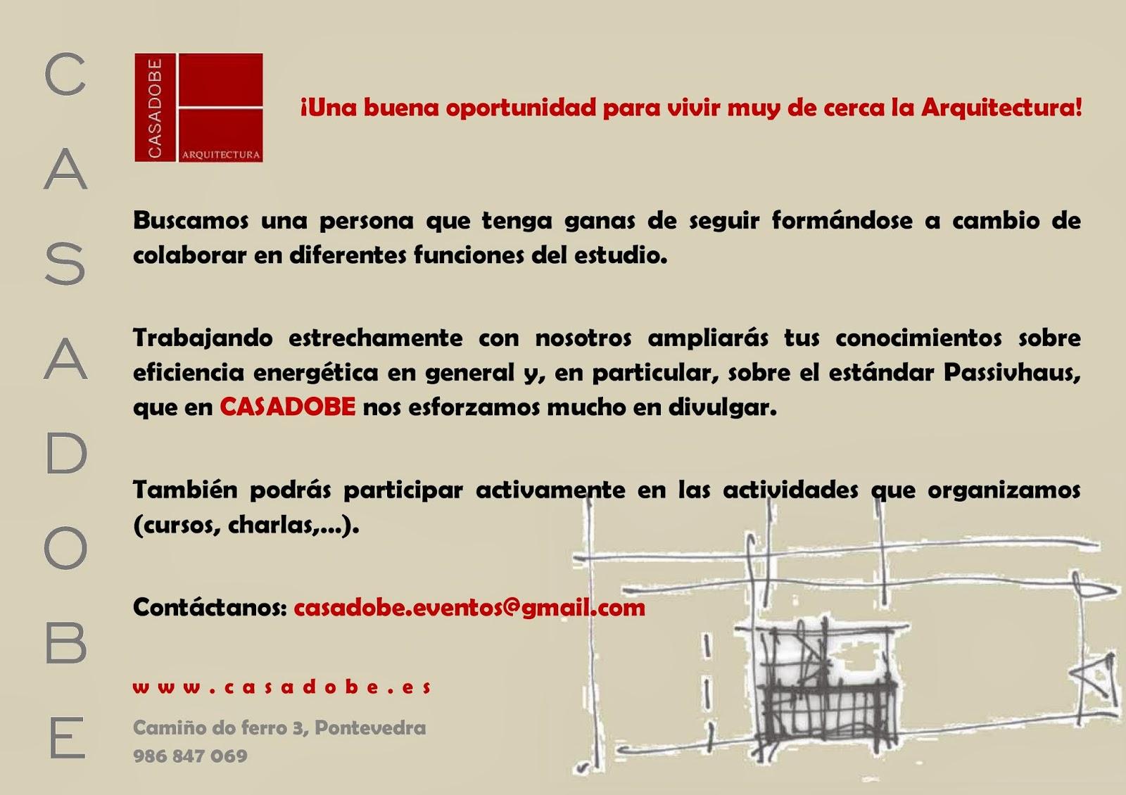 Eventos casadobe pr cticas de arquitectura en casadobe for Practicas estudio arquitectura