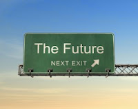 A sign that says the Future is at the next exit